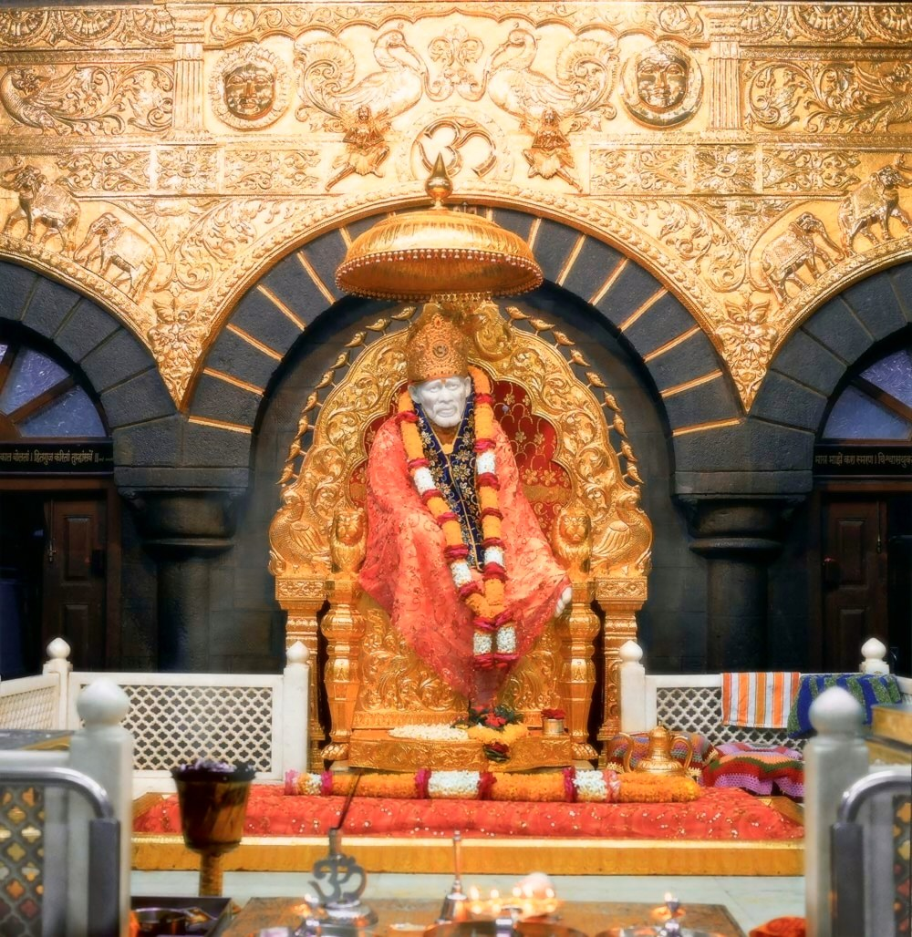 Shirdi Sai Baba Blessings! » golden throne shirdi sai