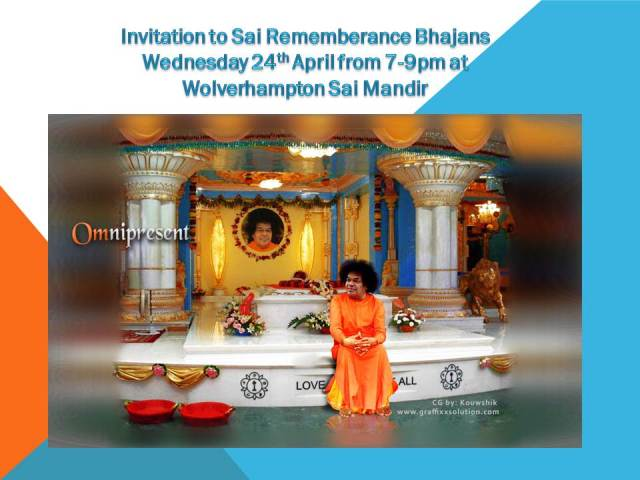 Invitation to Sai Bhajans